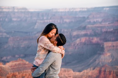 sunrise in love at the South Rim