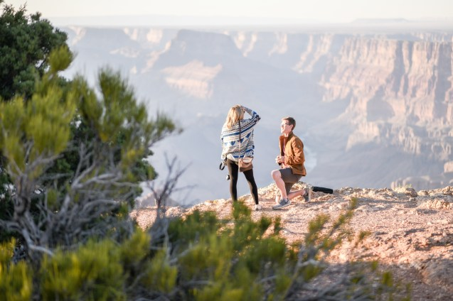 engagement at Grand Canyon
