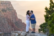 kissing at Grand Canyon