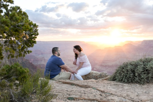 Sunset rays in portrait photography