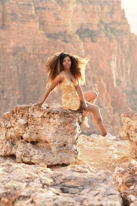 model at Grand Canyon