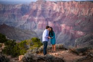 Standing on the edge of Grand Canyon in Love