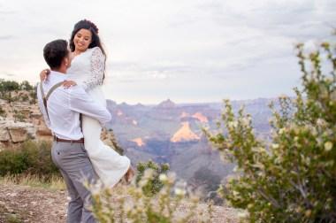7.27.17 LARGE Kathleen and Gabriel Yavapai Point and Duck on a Rock Rock Grand Canyon South Rim Monsoon Season photography by Terri Attridge-132