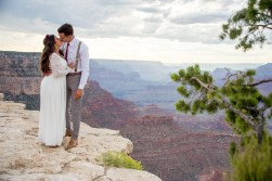 7.27.17 LARGE Kathleen and Gabriel Yavapai Point and Duck on a Rock Rock Grand Canyon South Rim Monsoon Season photography by Terri Attridge-168