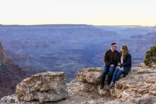 12.21.18 LR Sunset Engagement Proposal Lipan Point Tom and Megan photography by Terri Attridge-100