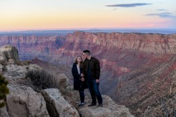 12.21.18 LR Sunset Engagement Proposal Lipan Point Tom and Megan photography by Terri Attridge-74