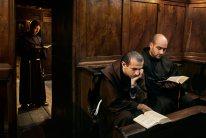 Camino, Italy, 09/2004, ITALY-10029. Men read the Bible. Retouched_Ekaterina Savtsova 02/17/14
