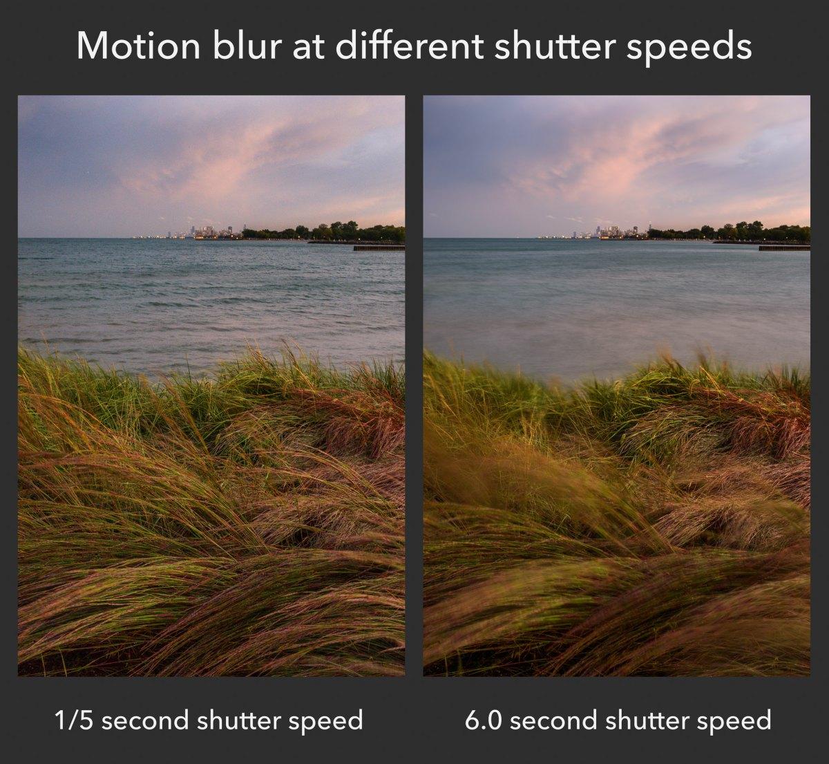 camera shutter speed tutorial example