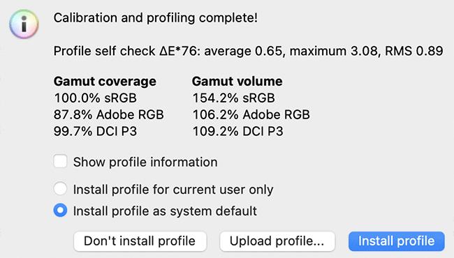 DisplayCAL Calibration Complete