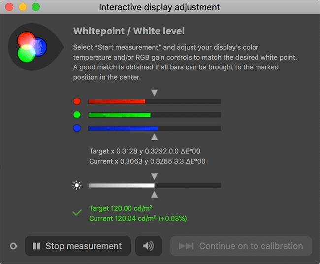 DisplayCAL Interactive display adjustment