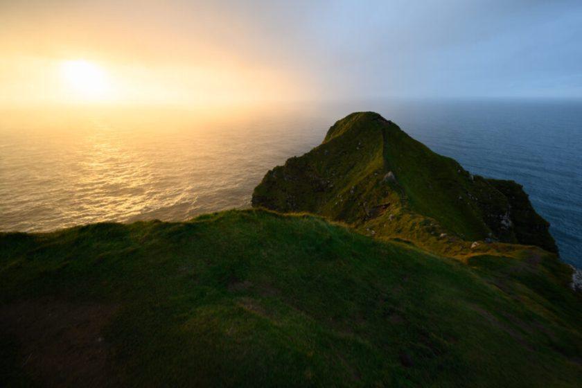 Sunset Faroe Islands Kalsoy