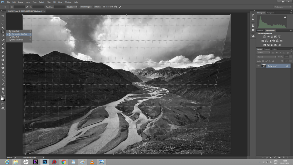 Perspective Crop Tool in Photoshop