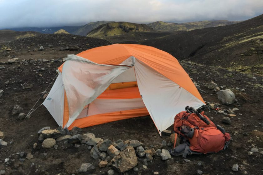 Big Agnes Tent Laugavegur Hike Camping