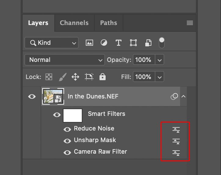 Smart Filter Blend Mode Icon