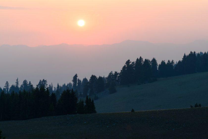 Sunset Near Crater Lake