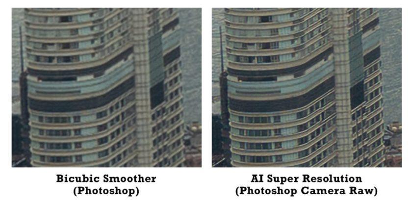 Bicubic Smoother vs Super Resolution Photoshop