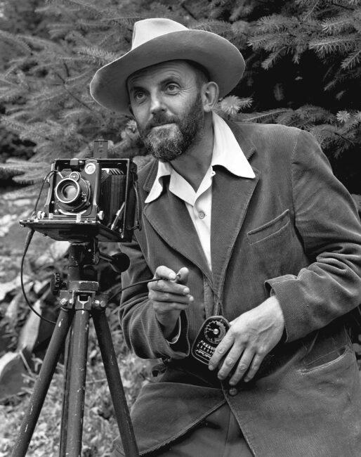 Ansel Adams with 4x5 Camera