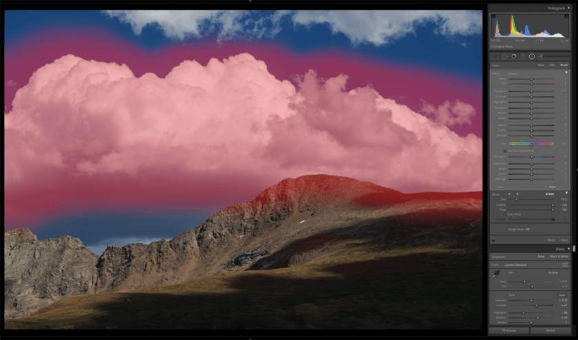 General Selection of Cloud in Landscape