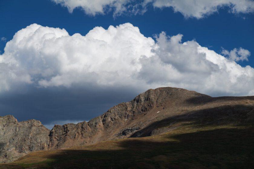 Landscape with Bright Cloud