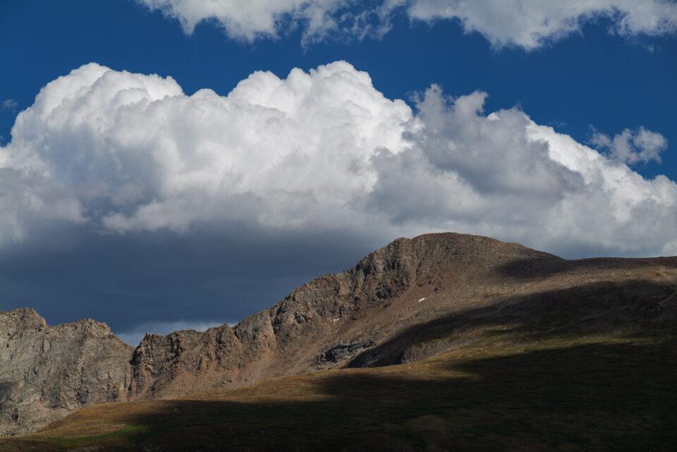 Same landscape with cloud darkened