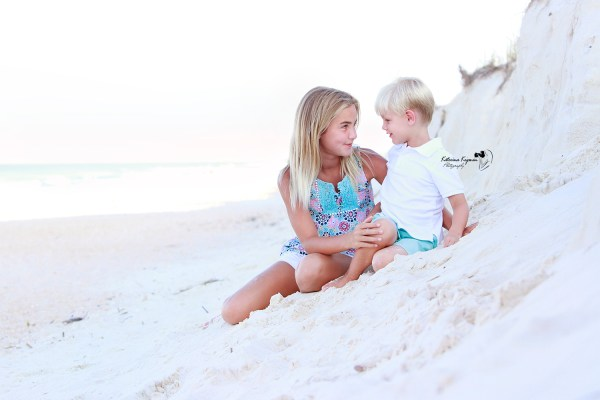 Kids photography and family beach portraits