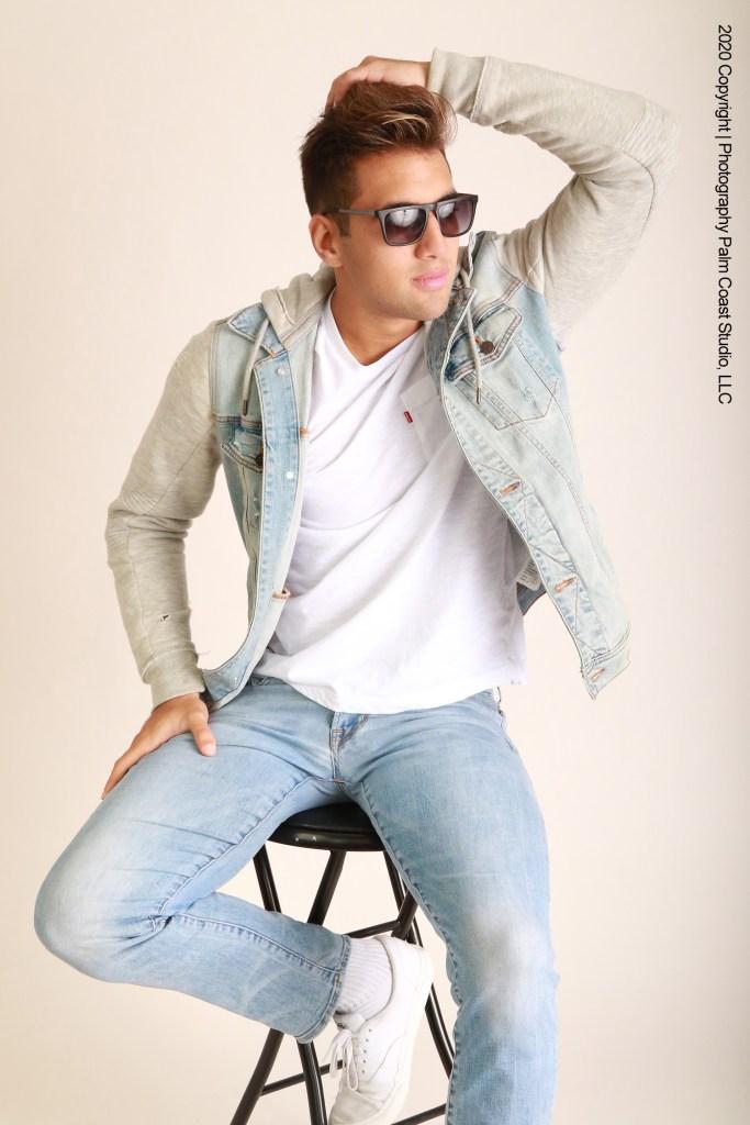 Professional model photography and talent portfolio studio sessions