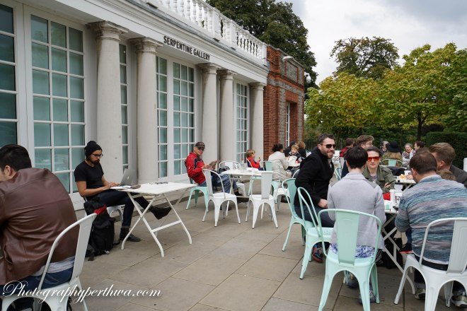 Afternoon tea in Hyde Park, London