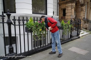 Stephen enjoying flowers, London