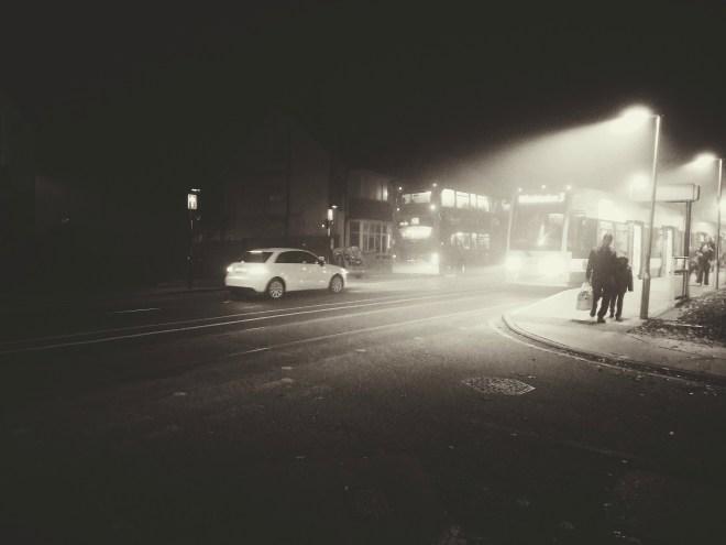 Foggy Croydon - noir