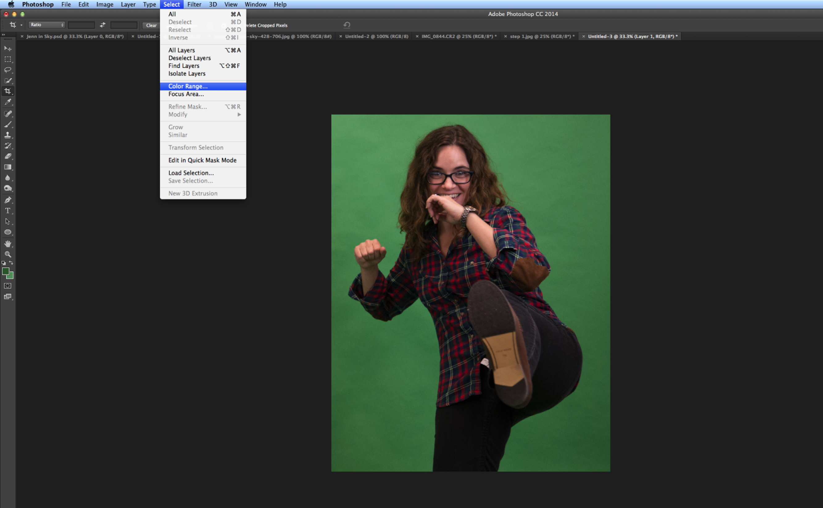 How to  Remove Green Screen Background in Photoshop   Seneca Sandbox     Go to Select and click Color Range  how to green 3