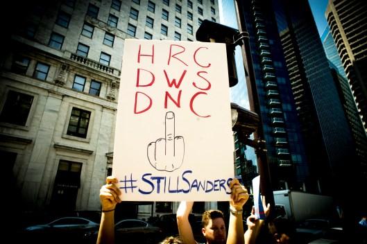 HRC DWS DNC Middle Finger, Photo by Doug Christian/Talk Media News
