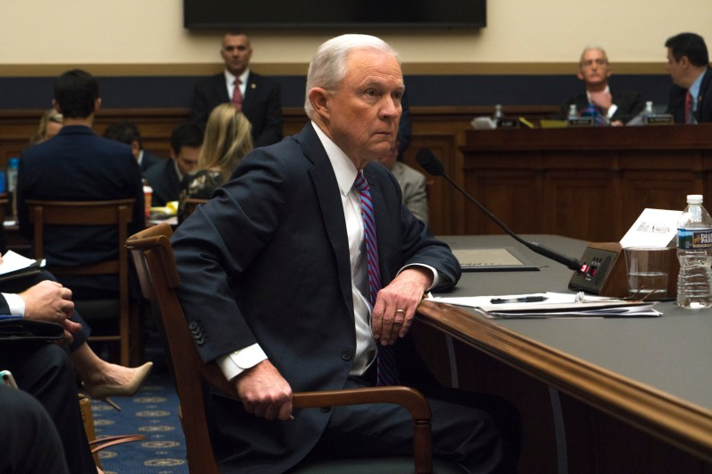 Attorney General Jeff Sessions testifies during House hearing01