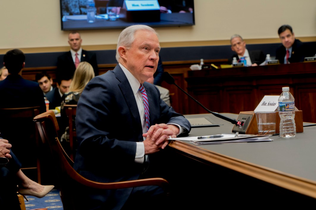 Attorney General Jeff Sessions testifies during House hearing03