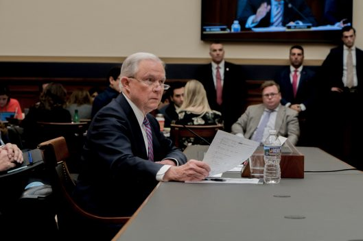 Attorney General Jeff Sessions testifies during House hearing06