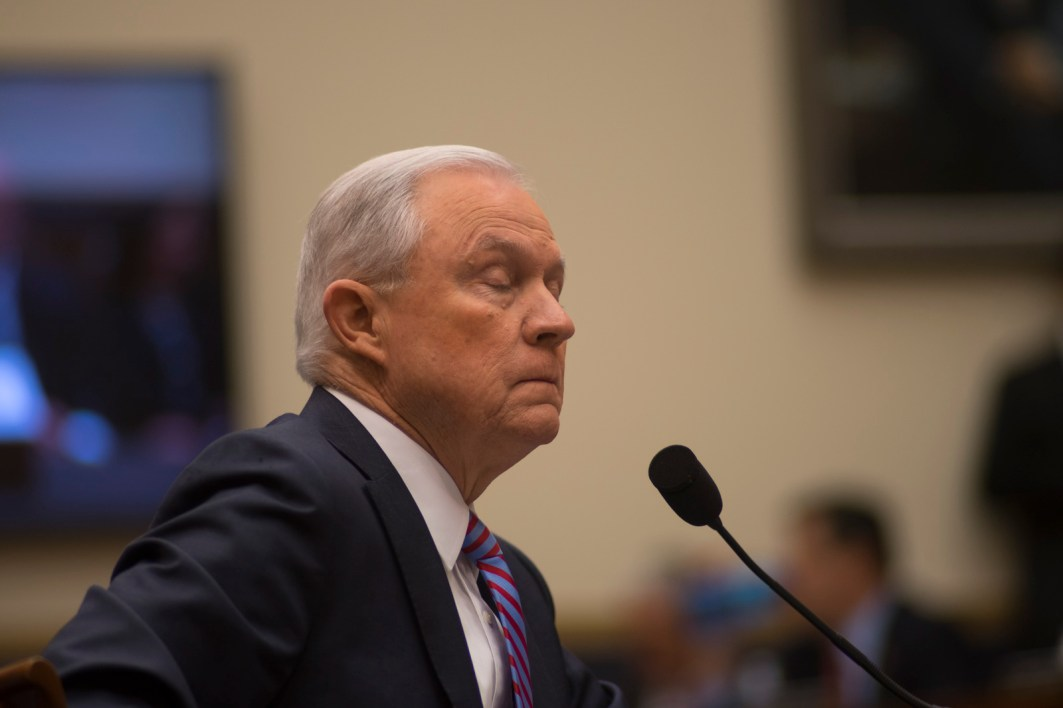 Attorney General Jeff Sessions testifies during House hearing07