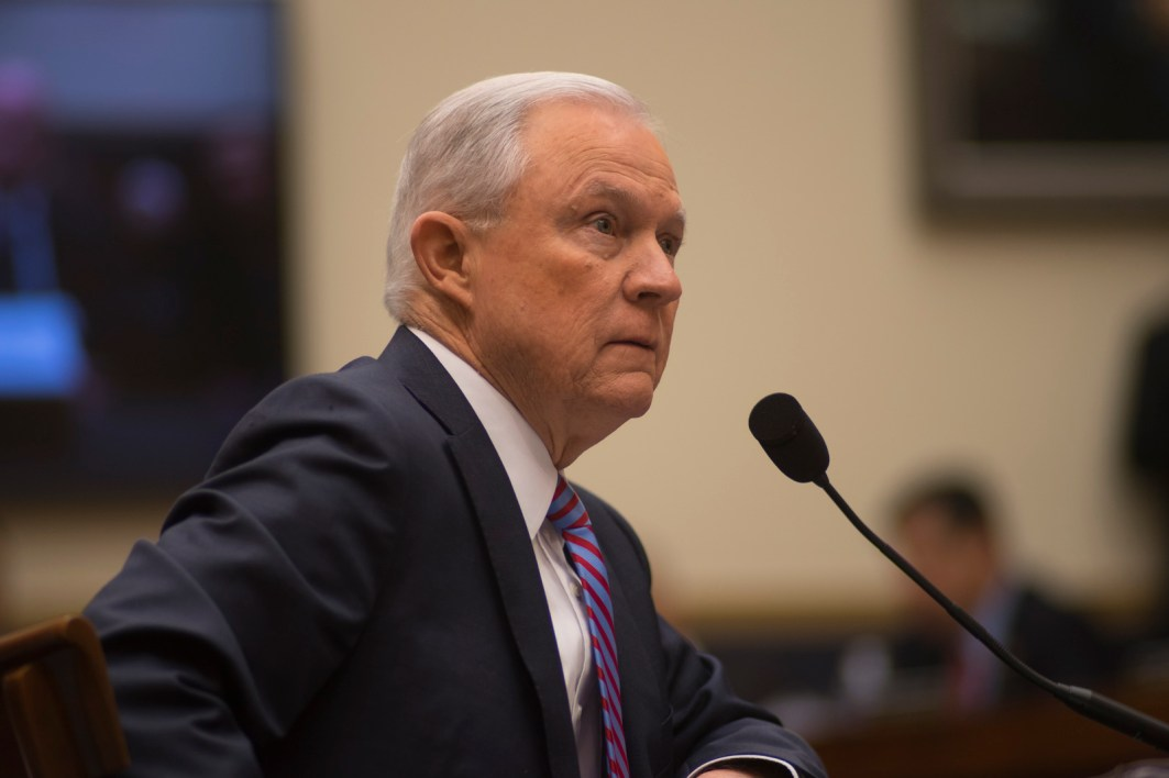 Attorney General Jeff Sessions testifies during House hearing09