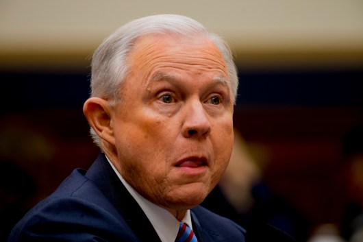 Attorney General Jeff Sessions testifies during House hearing15