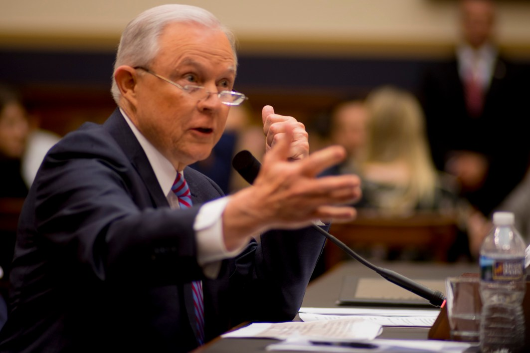 Attorney General Jeff Sessions testifies during House hearing36