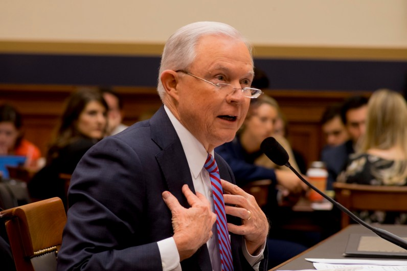 Attorney General Jeff Sessions testifies during House hearing38