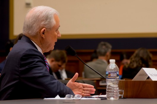 Attorney General Jeff Sessions testifies during House hearing45