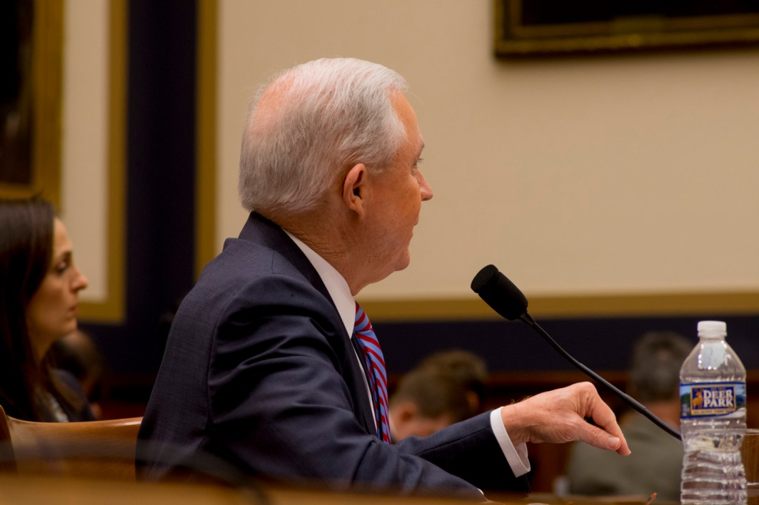 Attorney General Jeff Sessions testifies during House hearing46