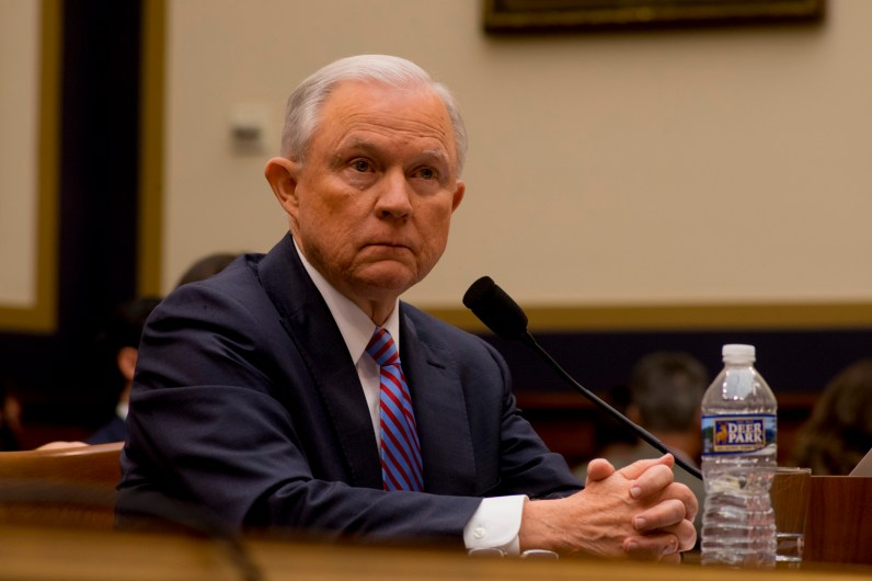 Attorney General Jeff Sessions testifies during House hearing48