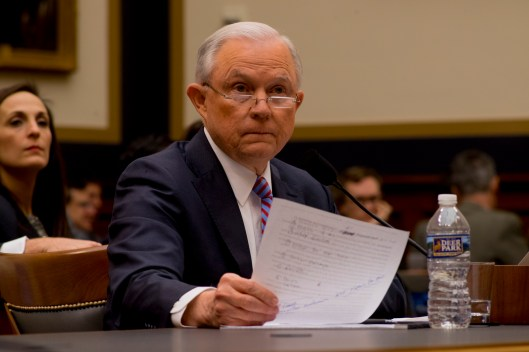 Attorney General Jeff Sessions testifies during House hearing55