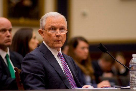 Attorney General Jeff Sessions testifies during House hearing57