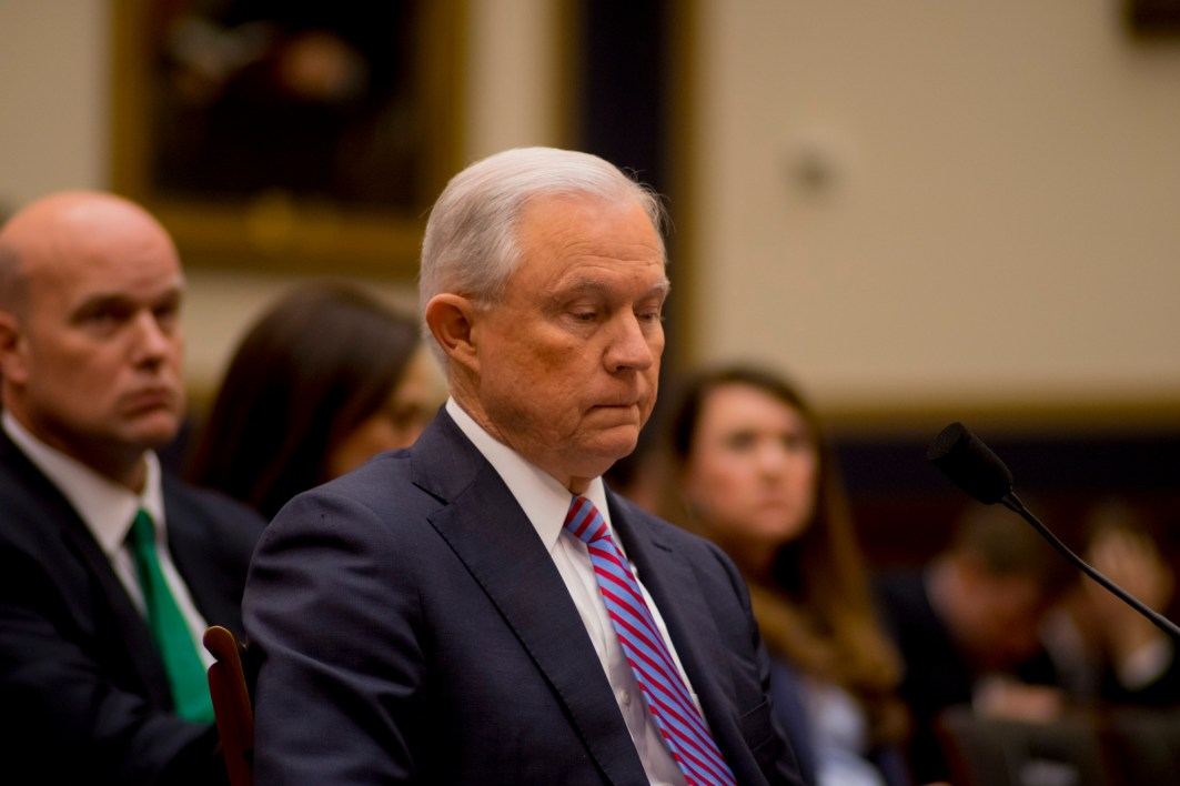 Attorney General Jeff Sessions testifies during House hearing60