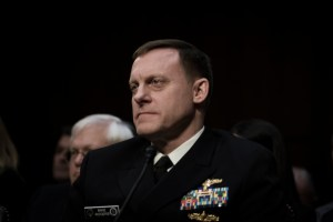 NSA Director Admiral Mike Rogers at the Worldwide Threats Assessment Senate briefing Feb 13, 2018