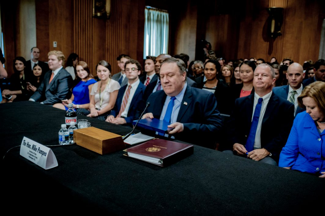 Secretary of State MIKE POMPEO testifiles before the Senate Foreign Relations Committee, July 25, 2018
