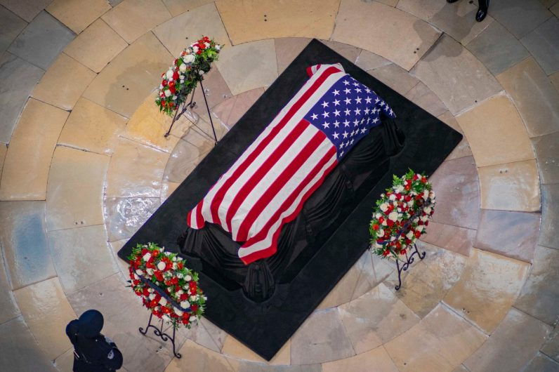 Senator JOHN MCCAIN lies in state in the U.S. Capitol Rotunda