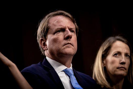 White House Counsel DON MCGAHN during Judge BRETT KAVANAUGH's confirmation hearing, September 5, 2018