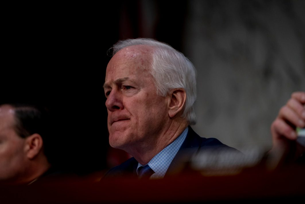 Senator JOHN CORNYN (R-TX) at WILLIAM BARR's confirmation hearing to become Attorney General of the United States, January 15, 2019